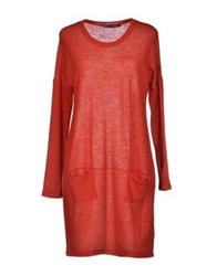 Private Lives Short Dresses Brick Red