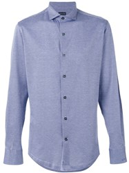 Paul And Shark Soft Buttoned Shirt Blue