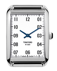 Tom Ford 40Mm Brushed Stainless Steel Watch Head Silver