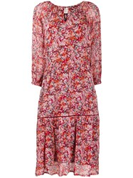 Cecilie Copenhagen Stine Floral Print Dress Red