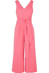 J.Crew Dark Matter Cotton Blend Poplin Jumpsuit Pink Gbp