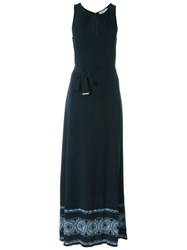 Michael Michael Kors Key Hole Neck Dress Blue