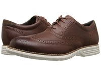 Rockport Total Motion Fusion Wing Tip Tan Men's Lace Up Wing Tip Shoes