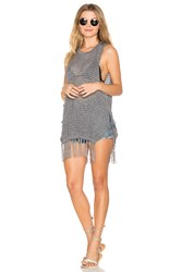 L Space Solana Beach Cover Up Charcoal