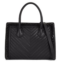 Aldo Dresden Quilted Satchel Handbag Black