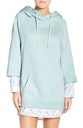 Honeydew Intimates Women's Layered Lounge Hoodie Snow Mint