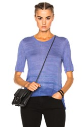 Raquel Allegra Basic Tee In Blue Ombre And Tie Dye Blue Ombre And Tie Dye
