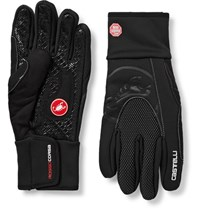 Castelli Estremo Microsuede Trimmed Gore Windstopper Cycling Gloves Black