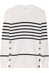 Sonia Rykiel Striped Wool Silk And Cashmere Blend Sweater