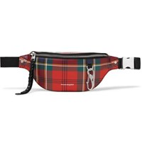 Alexander Mcqueen Checked Leather Belt Bag Red