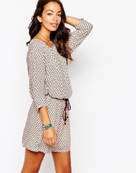 Esprit Printed Shift Dress Beigeprint