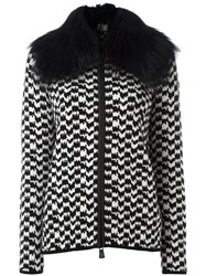 Moncler Grenoble Fur Collar Jacket Black