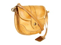 Frye Campus Mini Banana Dakota Clutch Handbags Tan