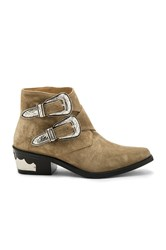 Toga Pulla Double Bucked Suede Bootie Tan