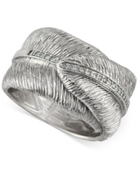 Macy's Balissima By Effy Textured Diamond Ring 1 6 Ct. T.W. In Sterling Silver