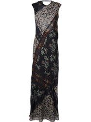 Etro 'Alice' Long Gown Black