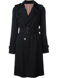 Jean Paul Gaultier Vintage Belted Trench Coat Black