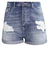 Scotch And Soda Denim Shorts Ocean Reflection Destroyed Denim