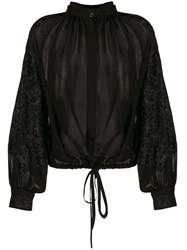Ann Demeulemeester Embroidered Gathered Blouse 60