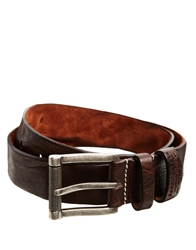 Esprit Dn Roller Leather Belt Brown