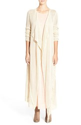 Rip Curl 'Wild One' Open Knit Duster Ivory
