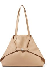 Akris Ai Medium Textured Leather Shoulder Bag Beige