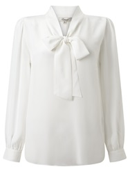 Alice By Temperley Somerset By Alice Temperley Tie Neck Blouse Top Cream