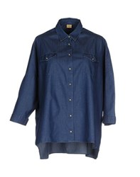 Fay Denim Denim Shirts Women Blue
