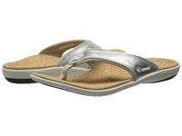 Spenco Yumi Metallic Silver Women's Dress Sandals