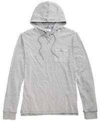 Univibe Men's Repaired Textured Hooded T Shirt Grey