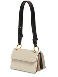 Marni Small Beat Leather Shoulder Bag Beige
