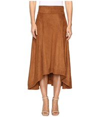 Jag Jeans Meredith Skirt In Machine Washable Faux Suede Saddle Brown Women's Skirt