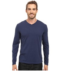 Mod O Doc Cardiff Long Sleeve Jersey V Neck Tee New Navy Men's T Shirt