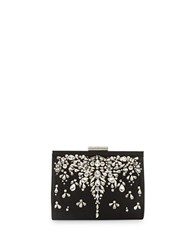 Badgley Mischka Adele Satin Clutch Black