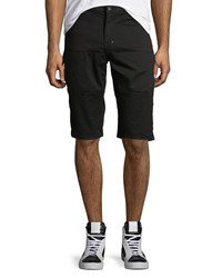Prps Solid Twill Moto Shorts Black