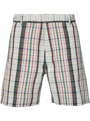 Orley Checked Shorts Men Wool S Red