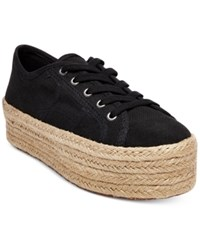 Steve Madden Women's Hampton Flatform Espadrille Sneakers Women's Shoes Black
