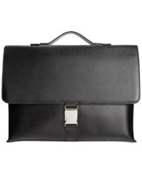 Calvin Klein Saffiano Leather Briefcase Black