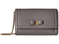 Salvatore Ferragamo 22C940 Urban Grey Cross Body Handbags Gray