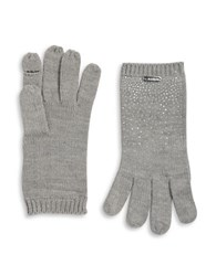 Calvin Klein Stud Accented Touch Glove Heather Grey