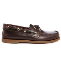 Sperry Amaretto A O Brown Leather Boat Shoes