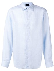 Emporio Armani Classic Button Up Shirt Blue