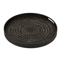 Notre Monde Black Beads Driftwood Tray Small