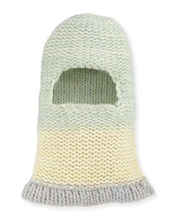 Calvin Klein 205W39nyc Balaclava Fitted Knit Hood Green Pattern