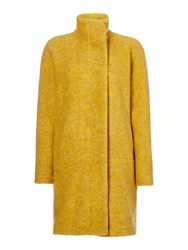 Samsoe And Samsoe Longsleeve Wool Coat With Button Front Gold