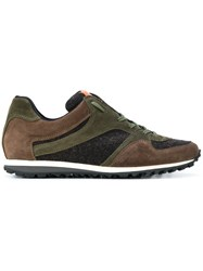 Al Duca D'aosta 1902 Panelled Detail Sneakers Leather Polyamide Rubber Green