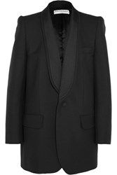 Balenciaga Epaule Couture Wool And Mohair Blend Tuxedo Blazer Black