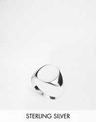 Asos Sterling Silver Signet Ring