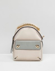 New Look Mini Chain Handle Backpack Oatmeal Beige