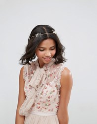 Asos Occasion Crystal Wire Hair Crown Gold